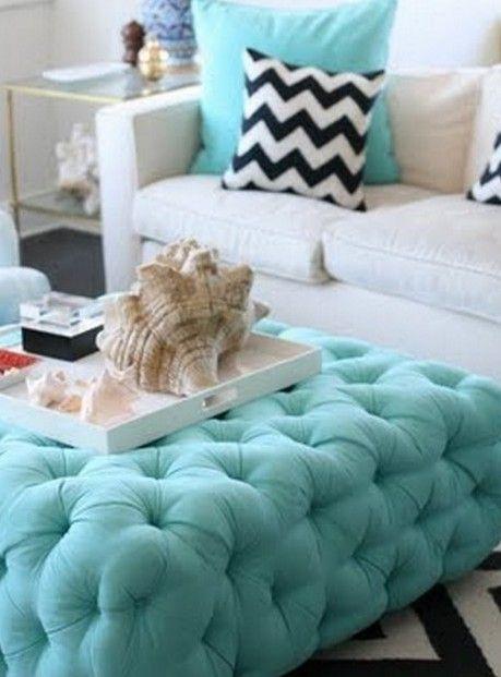 Decora o cama casal cinza azul google search hall for Sofa azul turquesa