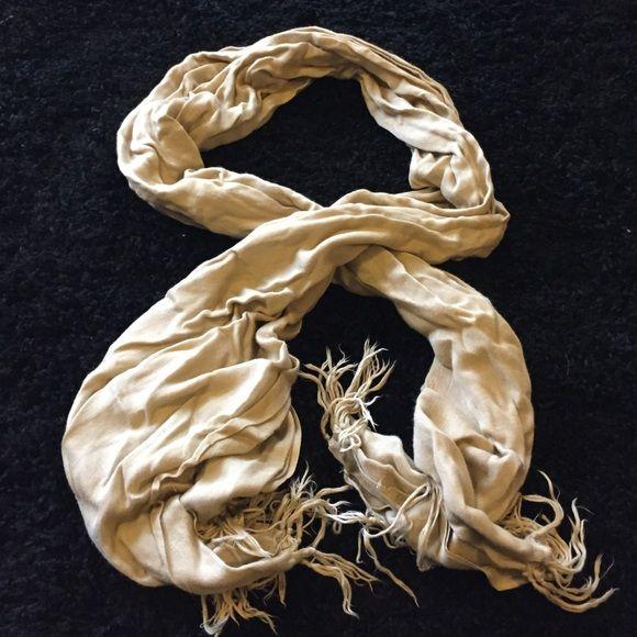 Tan scarf Tan color Accessories Scarves & Wraps