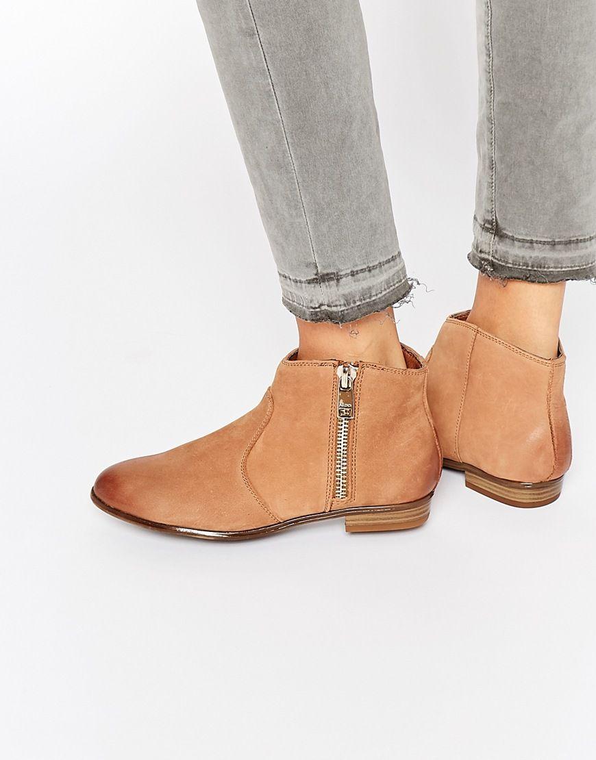 ALDO Alissonn Leather Camel Flat Boots