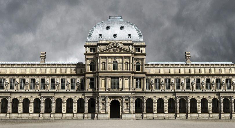 Palais Des Tuileries Fantasy Art Landscapes Architecture Sketch Louvre Paris