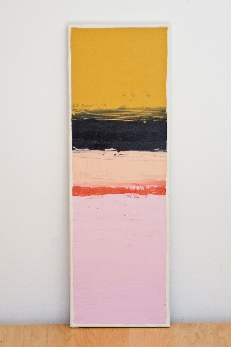 Color block series acrylic original painting via etsy