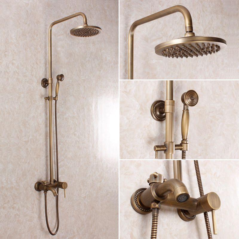 Ca os de bronce para griferia exterior antigua ducha for Griferia bano vintage