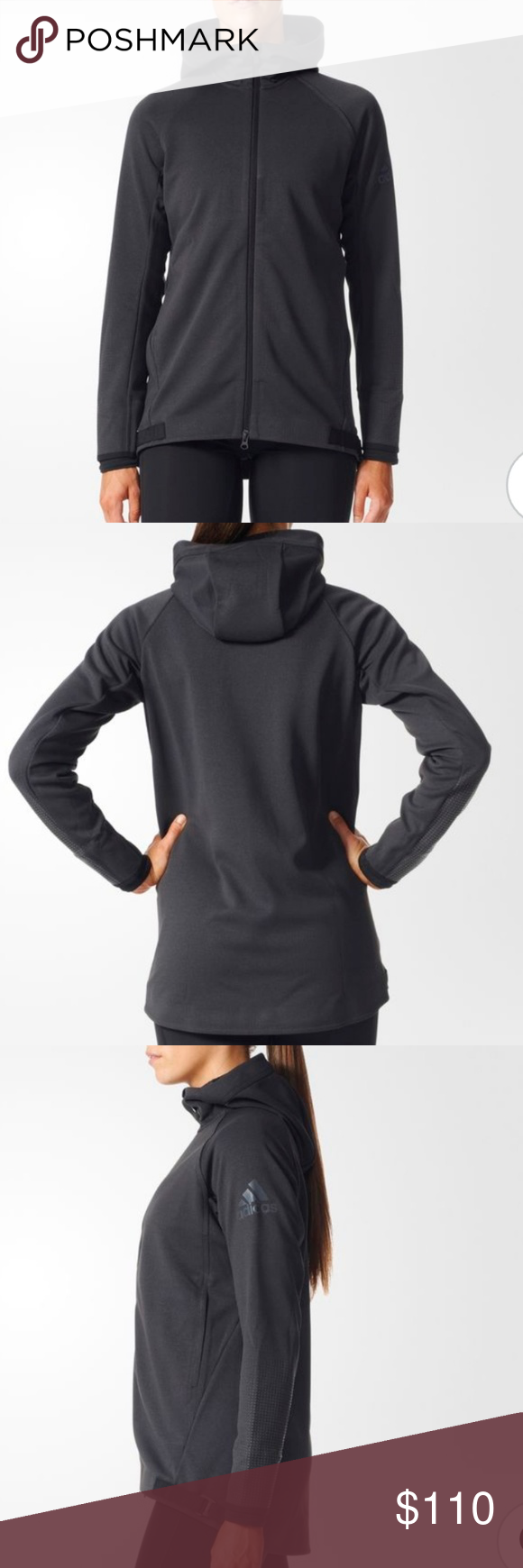 Predownload: Adidas Climaheat Hoodie Slim Fit Hoodie Polartec Reflective Design On Sleeves Front Zip Attached Hood New Adidas Jackets Outfits Fashion Hooded Jacket [ 1740 x 580 Pixel ]