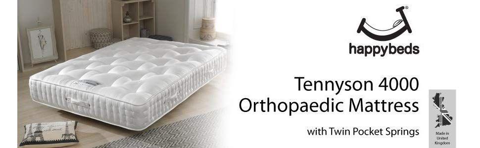 Happy Beds Tennyson 4000 Twin Pocket Sprung Orthopaedic Mattress Super King Uk In 2020 Uk Mattress Mattress Online Mattress