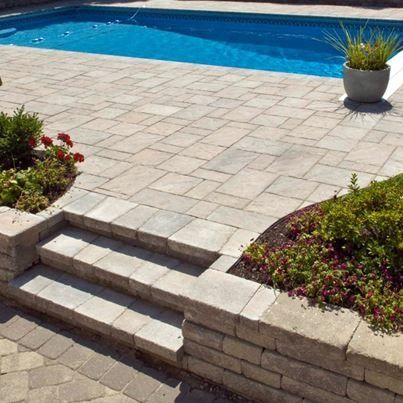 Nice landscaping to rectangle inground pool landscape - Nice above ground pools ...