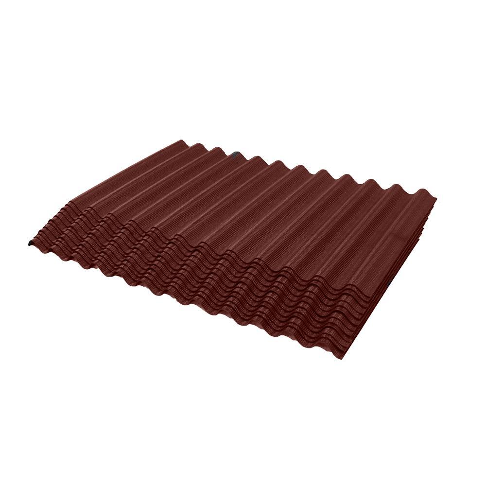 Ondura 2 25 Ft Jumbo Single Red Corrugated Shingle Asphalt Roof Panel 75 Sq Ft Per Bundle 2353 In 2020 Corrugated Metal Roof Roof Panels Corrugated Plastic Roofing