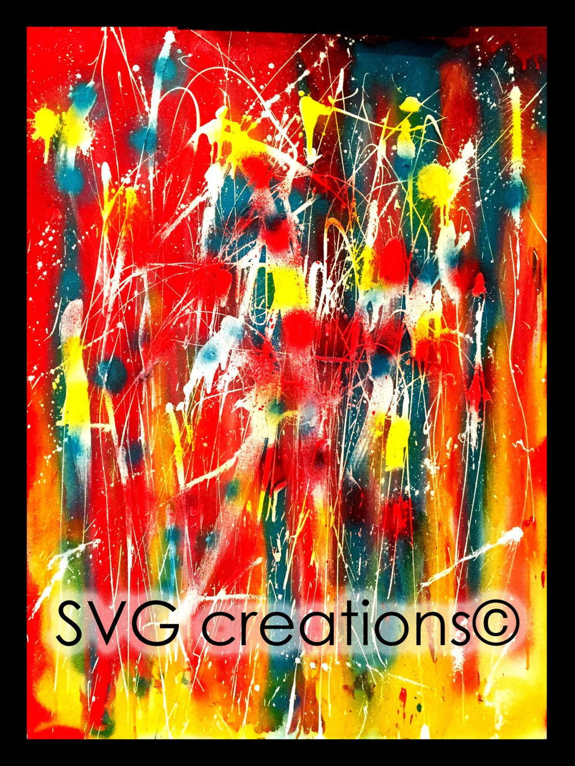 Peinture abstraite moderne à l'acrylique 30 x 40 / Modern abstract painting by acrylic 30 x 40 de la boutique SVGCreations13 sur Etsy