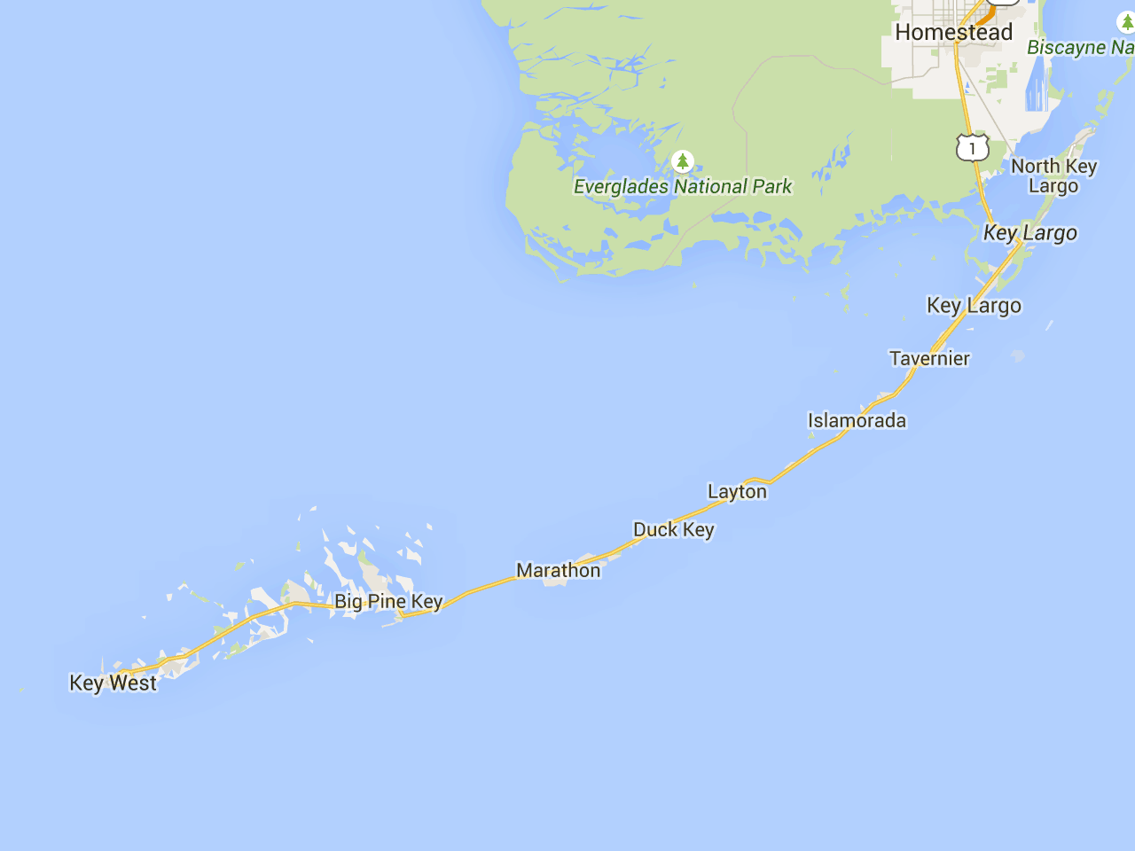 Map Of The Florida Keys With Mile Markers Road Trip: Florida Keys mile marker guide   Florida Rambler