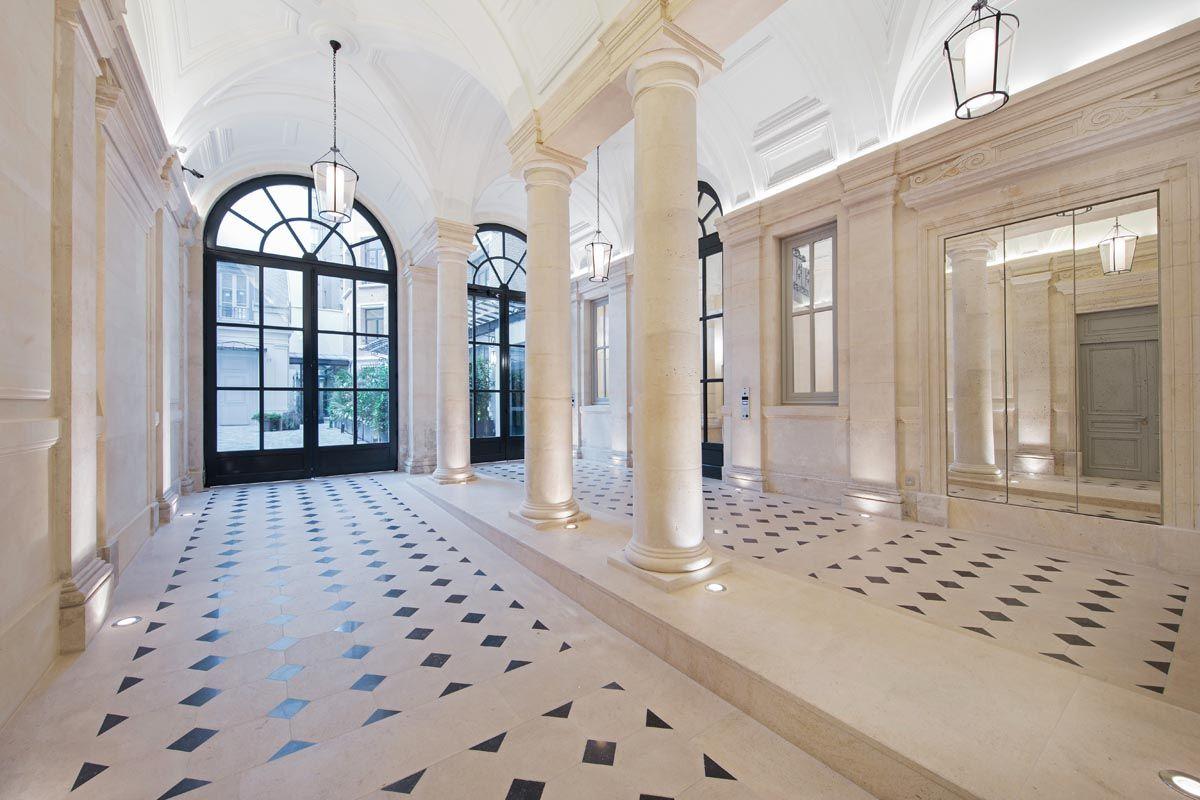 hall lpa architectes hall entr e entrance door porte stone pierre 09 pale classic. Black Bedroom Furniture Sets. Home Design Ideas