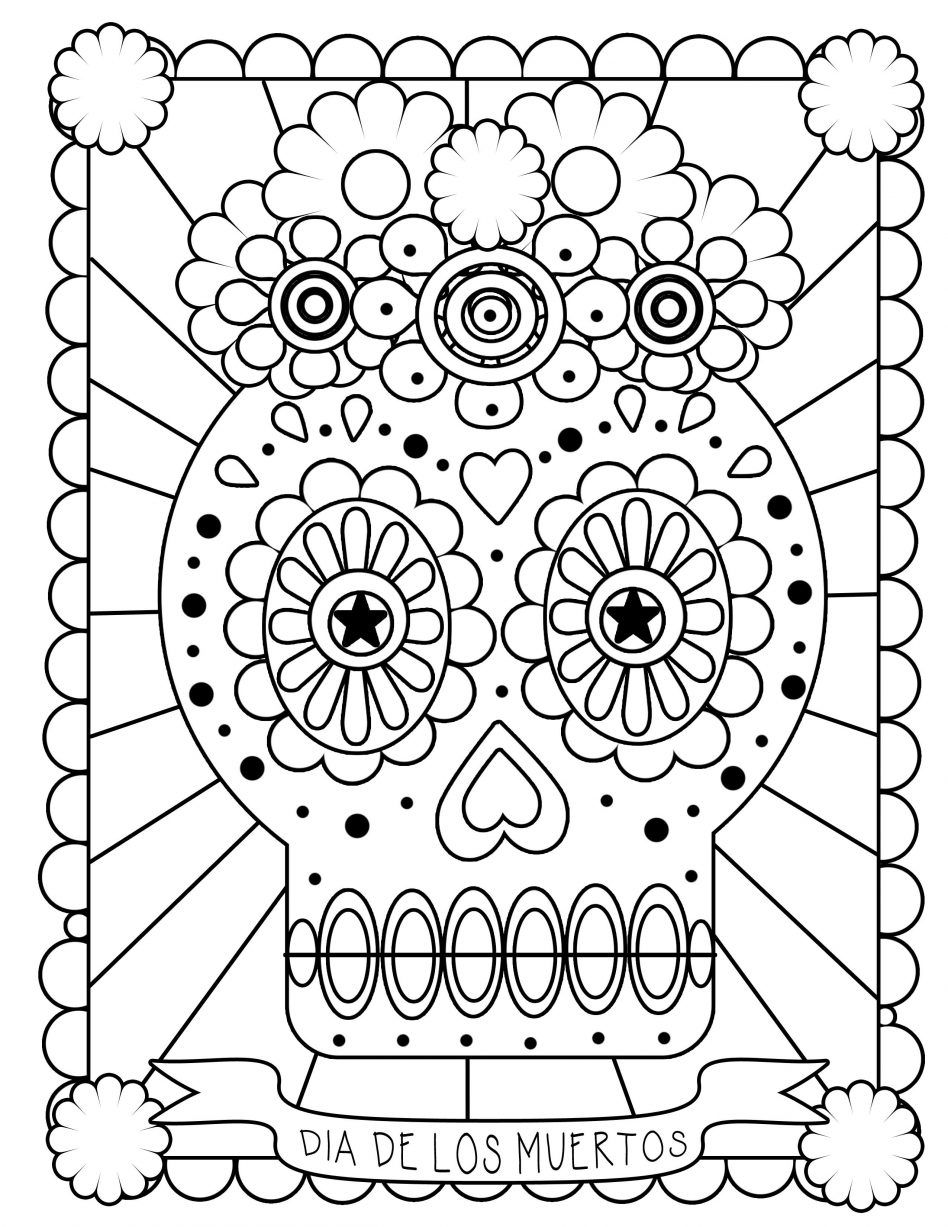 Pin by Pamela Sioux Alms on Coloring Pages | Pinterest | Day of the ...