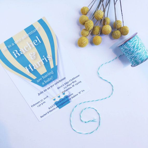 Hot air balloon baby shower invitations by lovekenedie on etsy hot air balloon baby shower invitations by lovekenedie on etsy negle Image collections