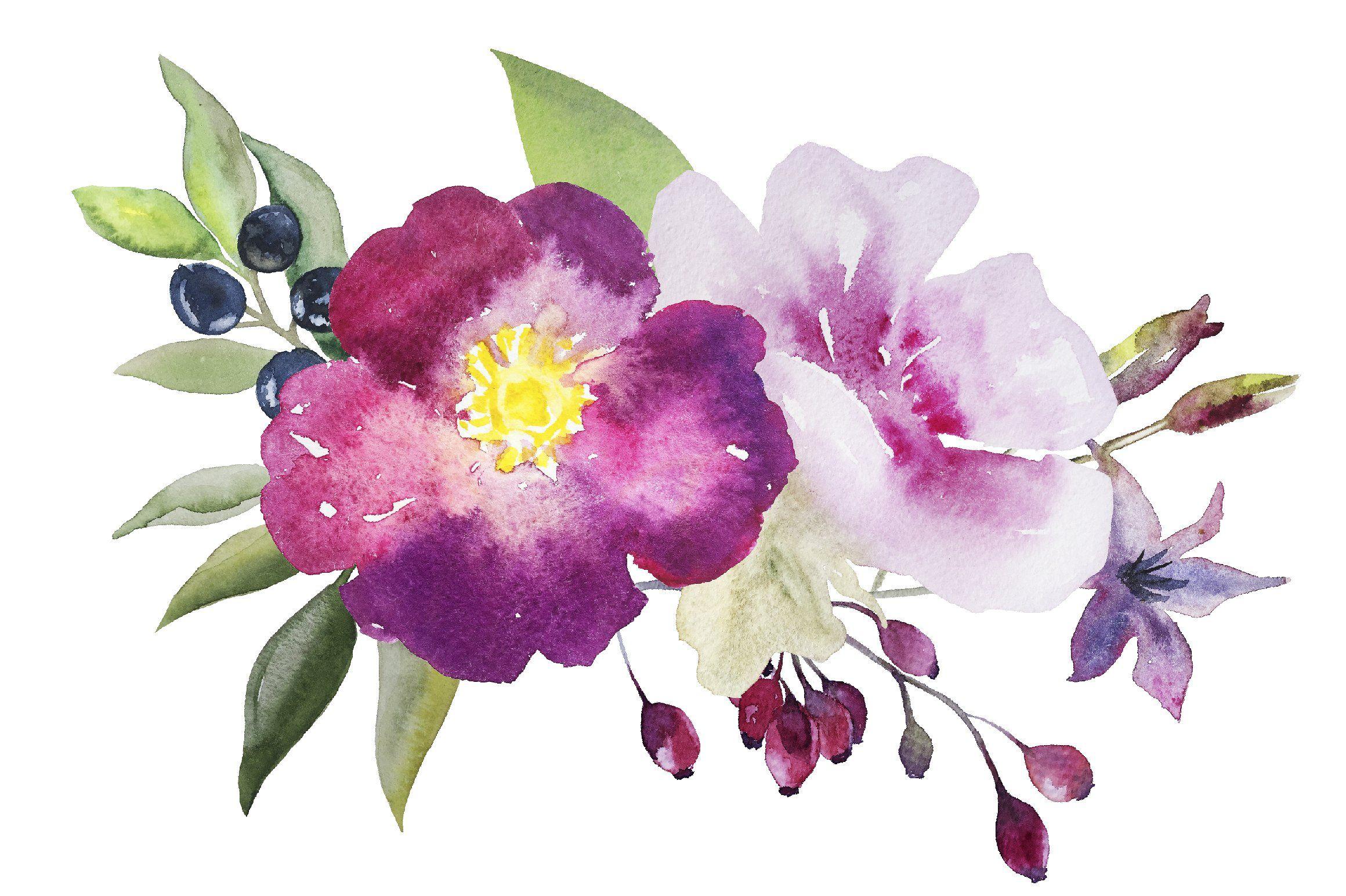 Watercolor Flowers Set 3 Watercolor Flowers Tutorial Watercolor Flower Background Loose Watercolor Flowers