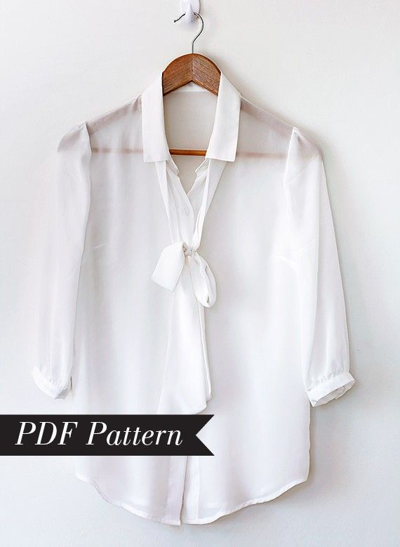 Gorgeous Pussy Bow Blouse PDF Pattern that you by PatternRunway ...