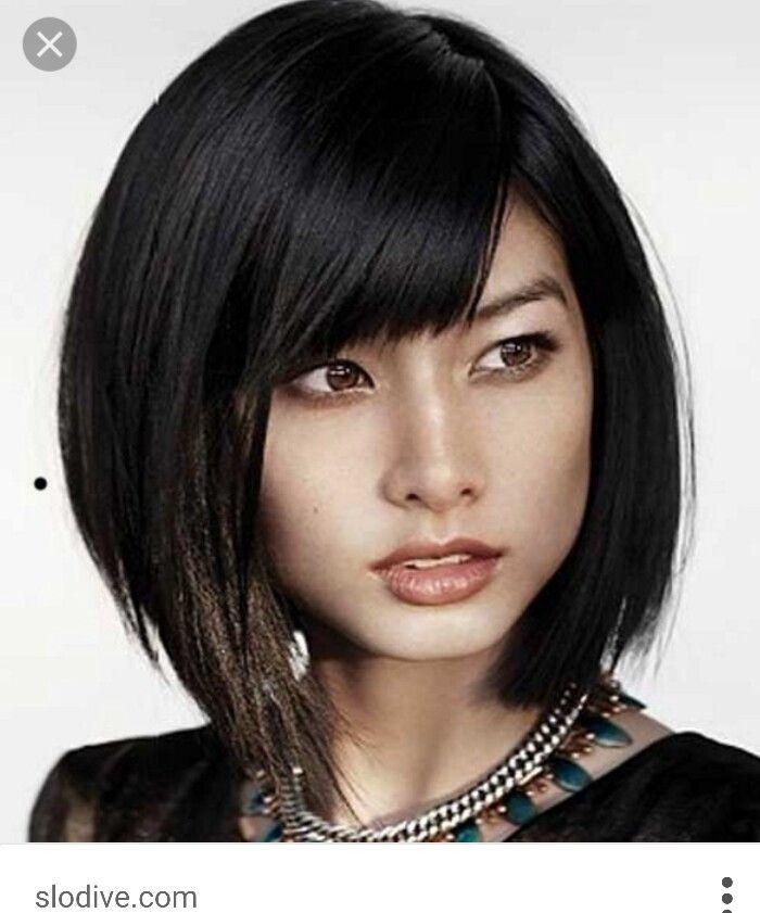 Chin bob haircut | Asian short hair, Medium hair styles, Short bob ...