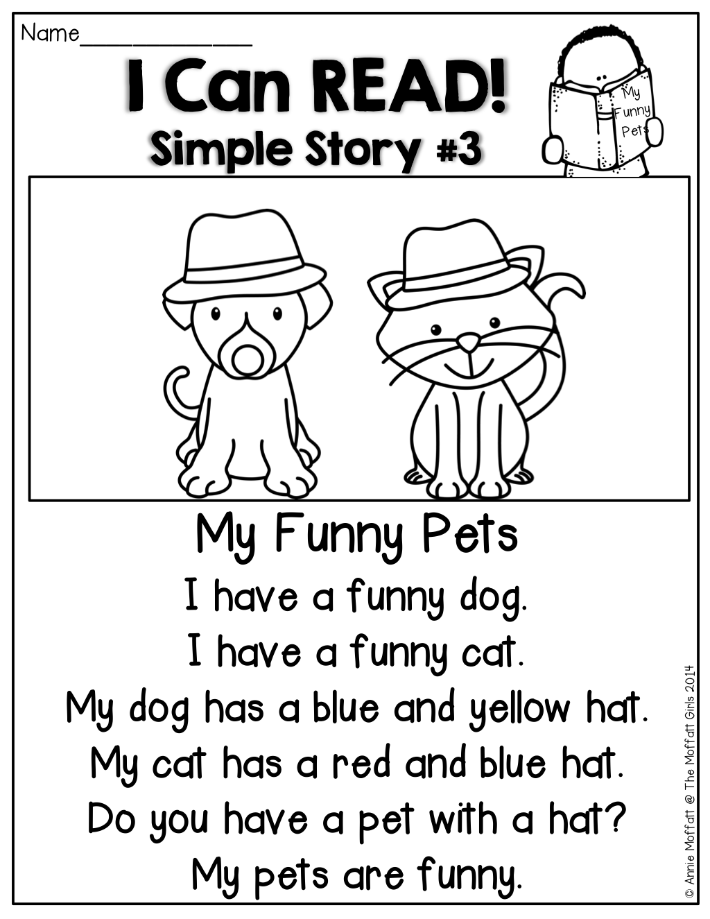 I Can READ Simple Stories! Simple stories made up of SIGHT WORDS and ...