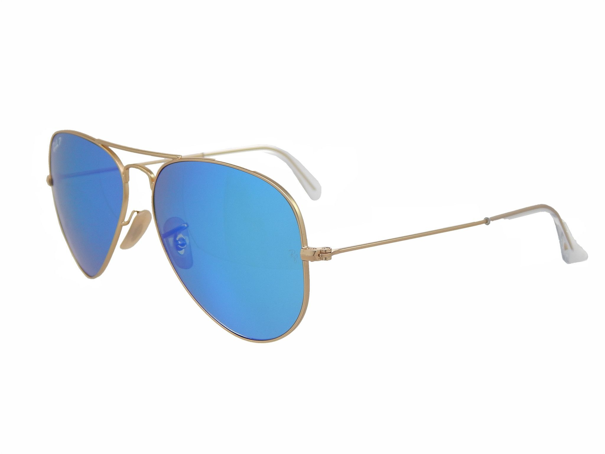 2153a01307 Ray Ban Aviator RB3025 112 4L Gold Blue Flash 58mm Polarized Sunglasses