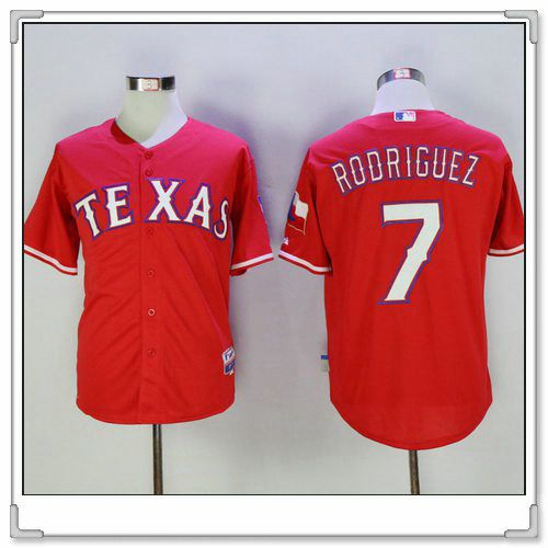 191c012fa ... Authentic Collection Stitched MLB Jersey Mens Texas Rangers 7 Ivan  Rodriguez Retired Red Stitched MLB Majestic Cool Base Jersey ...