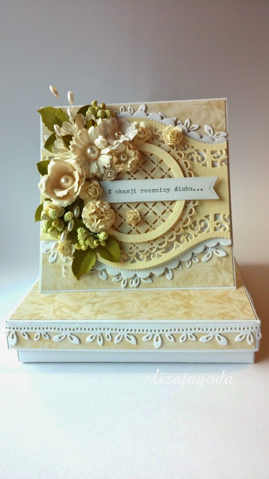 Z Okazji Rocznicy Slubu Flower Cards Pretty Cards Vintage Cards