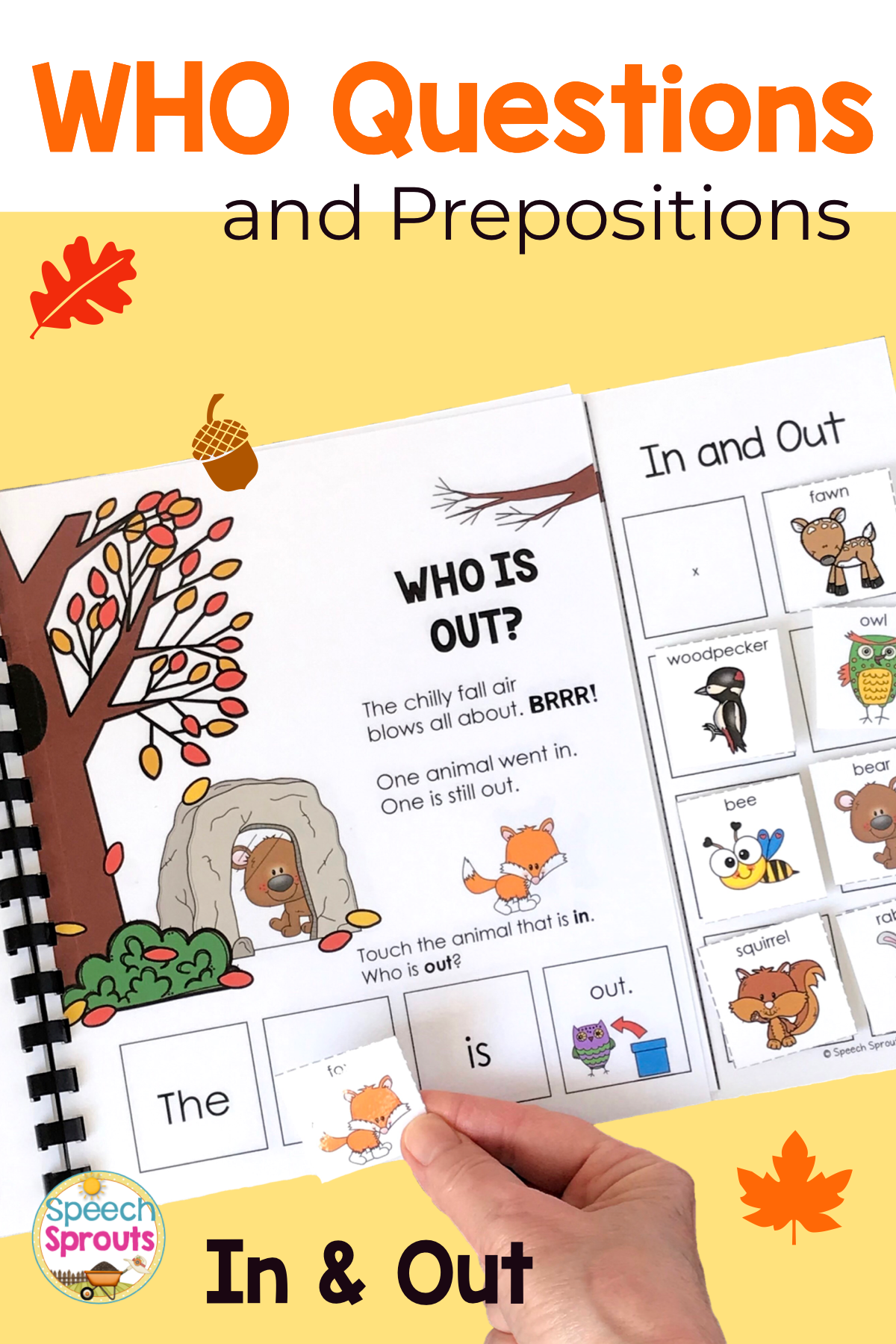 Wh Questions Interactive Book For Positional Words In And Out Speech Therapy Activities Wh Questions Speech Therapy Activities Language Therapy Activities [ 1800 x 1200 Pixel ]