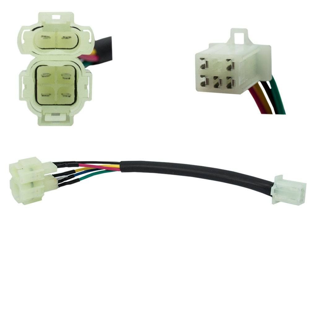 Jumper Wire 5 Pin Cdi To 6 Honda Style Plug Details Wiring Harness Pins Converts A Squared Single Into Rounded Dual Saves Cutting