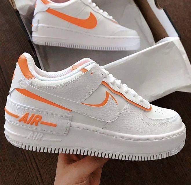 Neon Orange Air Force 1 Shadow | THE CUSTOM MOVEMENT | Nike air ...