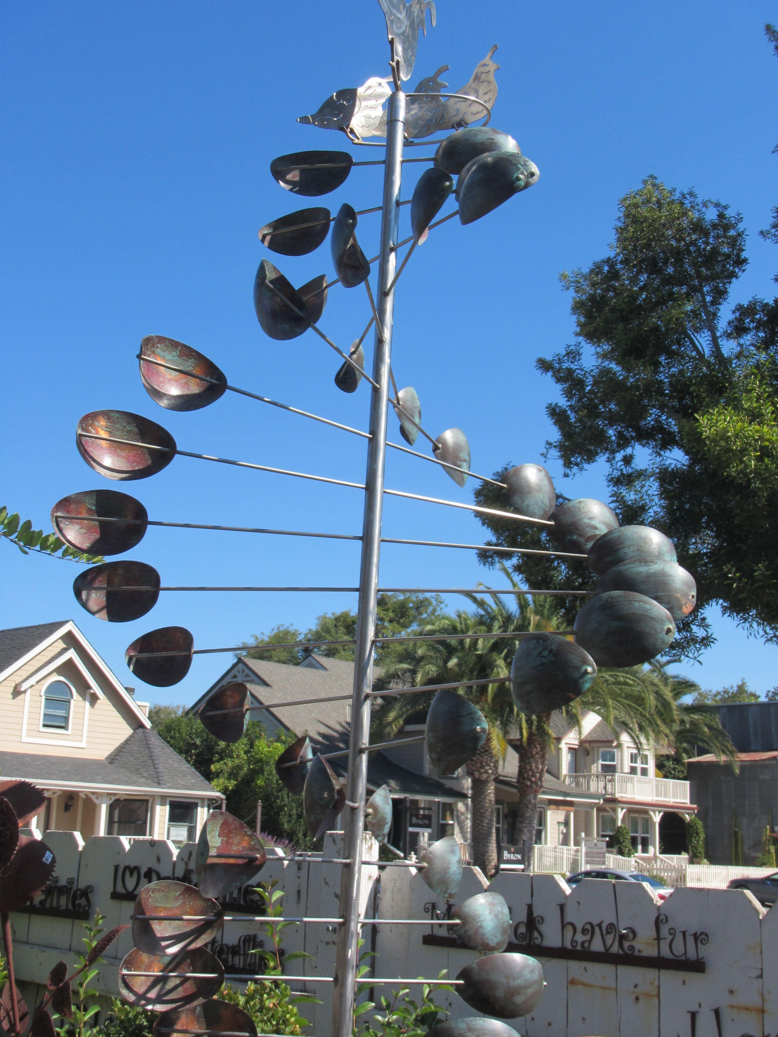 Metal Whirligig, Garden Art
