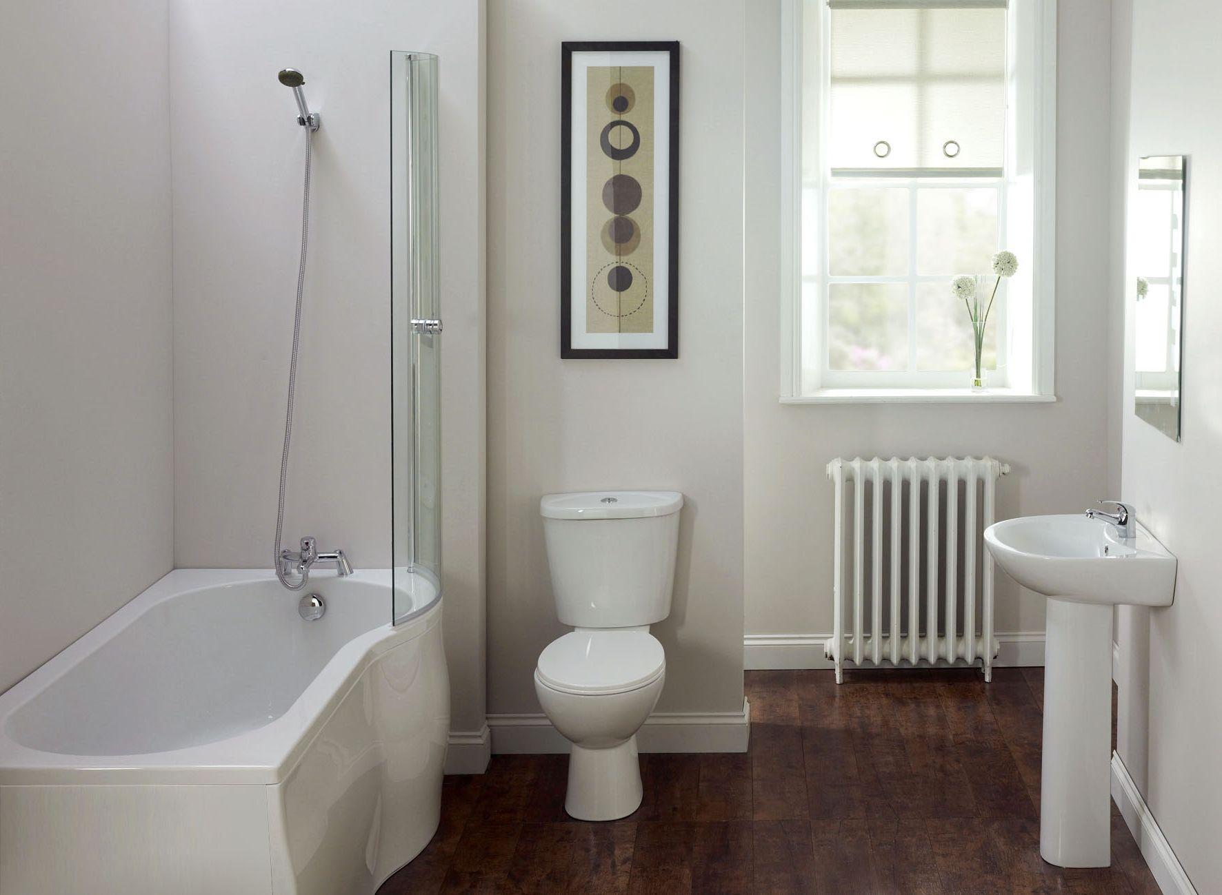 Ordinaire Bathroom, Small White Bathroom Ideas For Simple White Home Interior Design  With Small White Bathtub