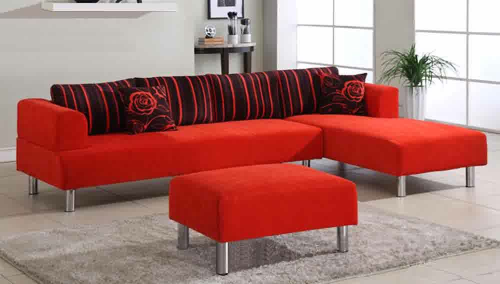 Red Microfiber Sectionals Highlight Your Living Room Red