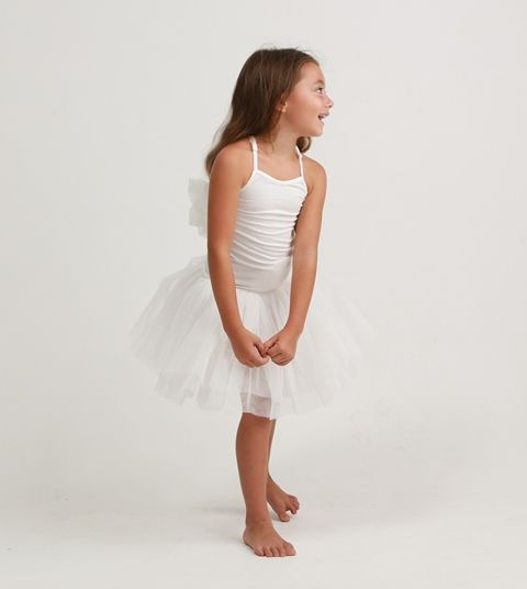 """Designer girl clothing - Alex & Ant Ice Vovo Angel Tutu - $47.95 - Guaranteed to delight and little girl and mumma alike!  The divine and absolutely irresistible Angel Tutu from the stunning Ice Vovo collection by Alex & Ant!  Your little miss will twirl to her hearts content in this gorgeous dress - features fitted bodice, multi-layer tulle skirt and tulle """"angel"""" wings at back! Designer girl clothing - Alex & Ant"""