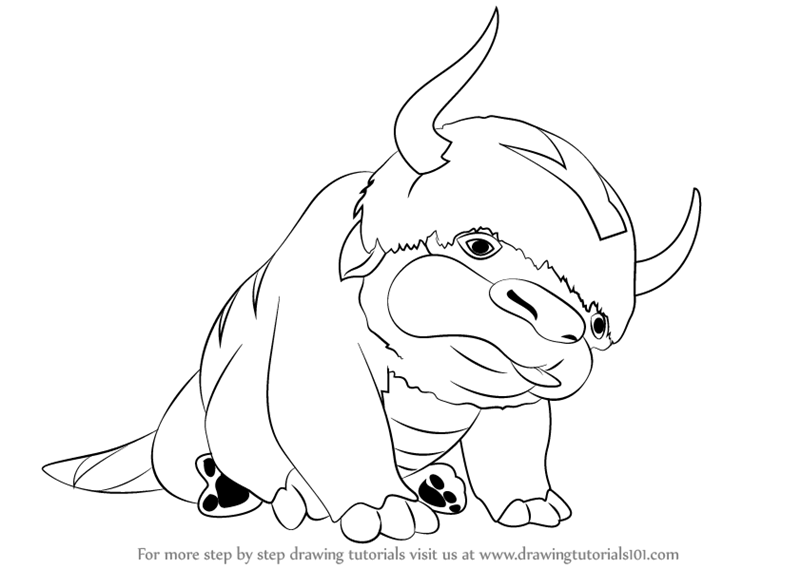 Learn How to Draw Appa from Avatar The Last Airbender (Avatar: The ...