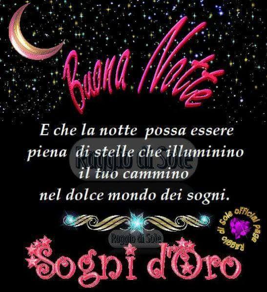 Buona Notte E Sogni Doro Buonanotte Good Night Good Night