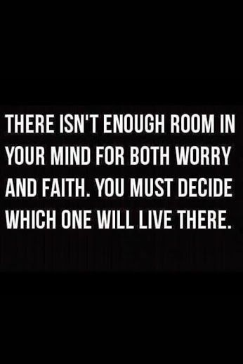 There isn´t enough room in your mind for both worry and faith...  #inspiration #motivation #wisdom #quote #quotes #life