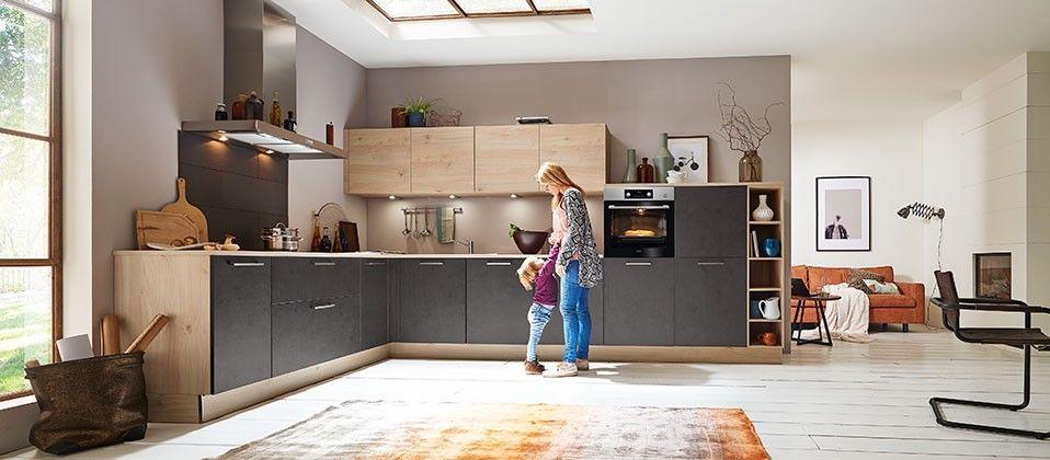 Wohnliche Einbauküche mit innovativer Technik Haus der