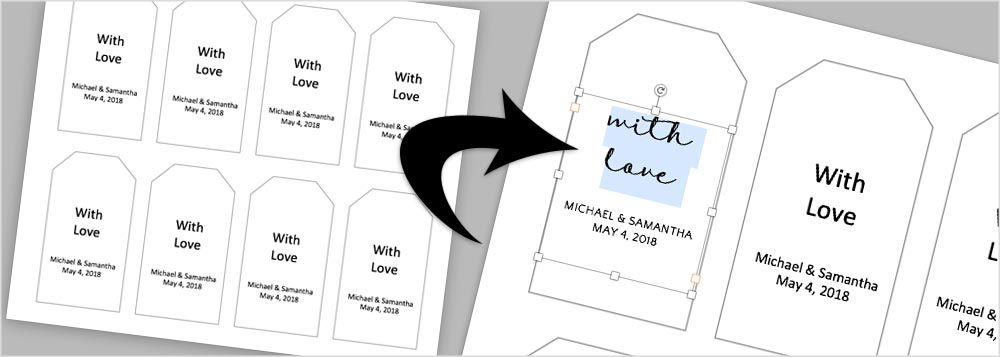 Instructions Templates To Make Your Own Wedding Favor Tags Gift Tag Template Free Gift Tag Template Free Gift Tags