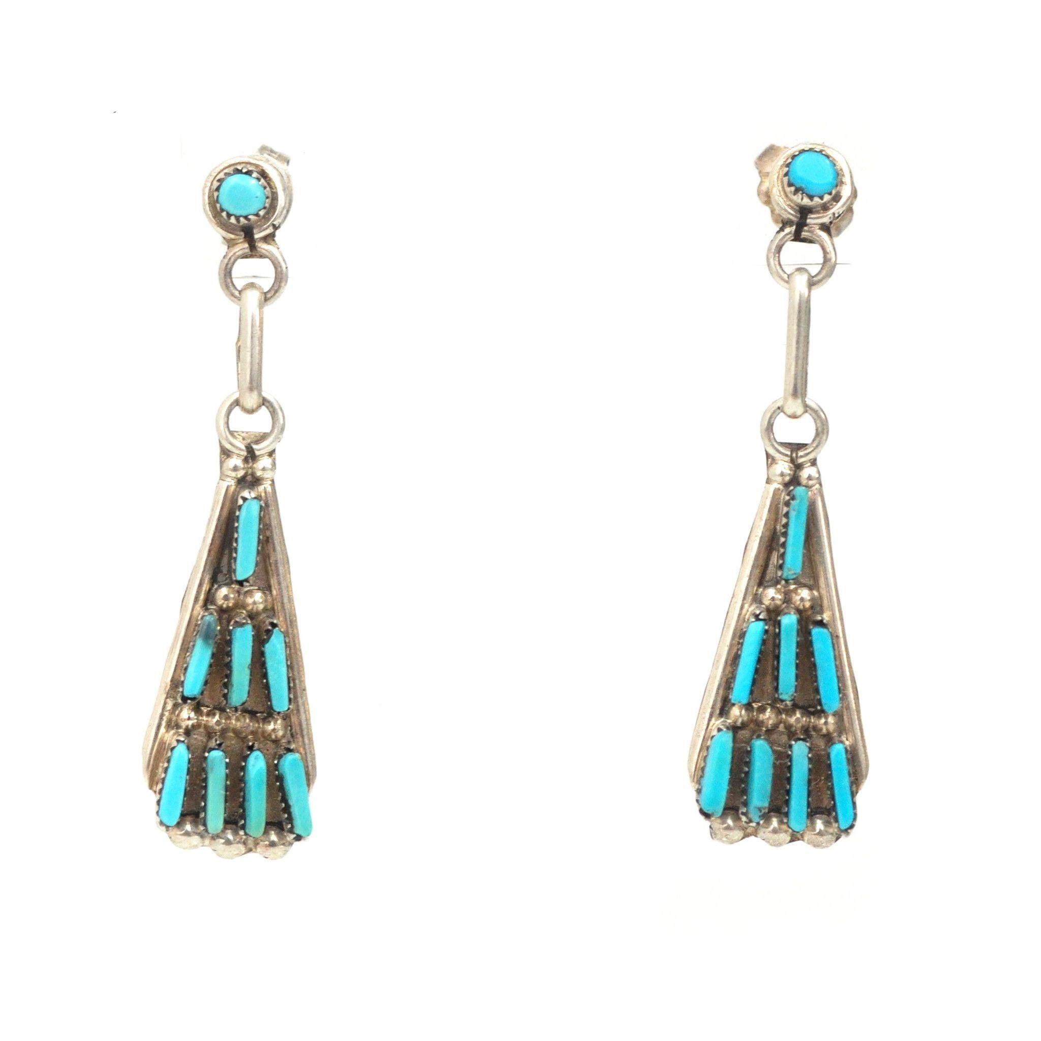 Zuni Needle Point Earrings