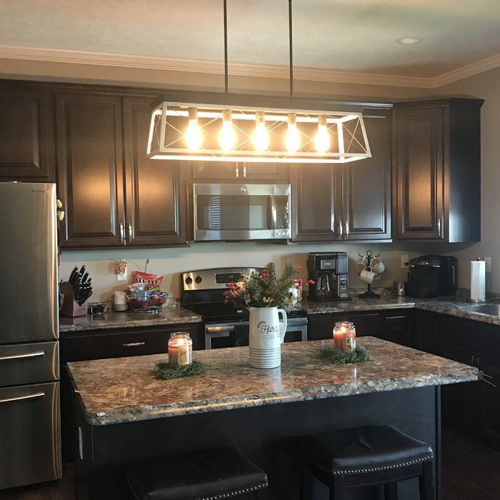 Delon 5-Light Kitchen Island Linear Pendant | Kitchen ...