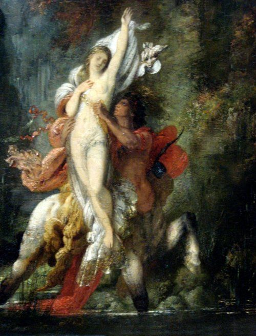 Dejanira and the Centaur Nessus by Gustave Moreau