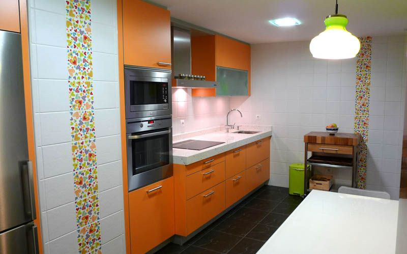 Dise o de cocinas cocinas naranjas madrid cocinas for Diseno de cocinas madrid