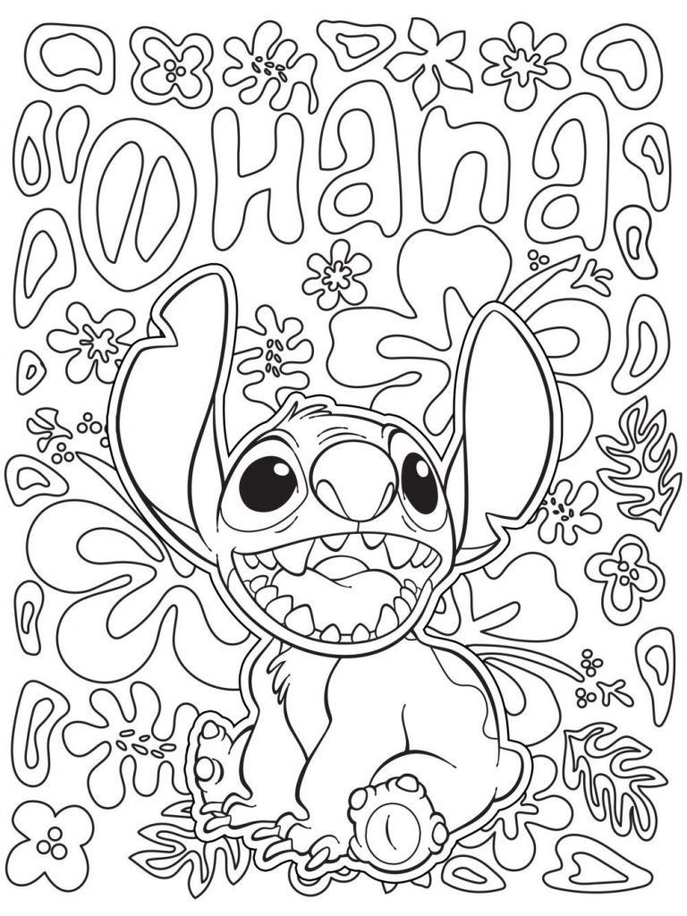 Disney Coloring Pages for Adults  Stitch coloring pages, Disney