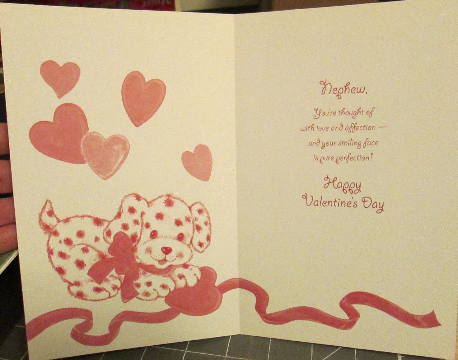 Ps greetings happy valentines day special nephew card dalmatian new unused ps greetings tender thoughts greeting card dalmatian puppy dog with heart kristyandbryce Choice Image