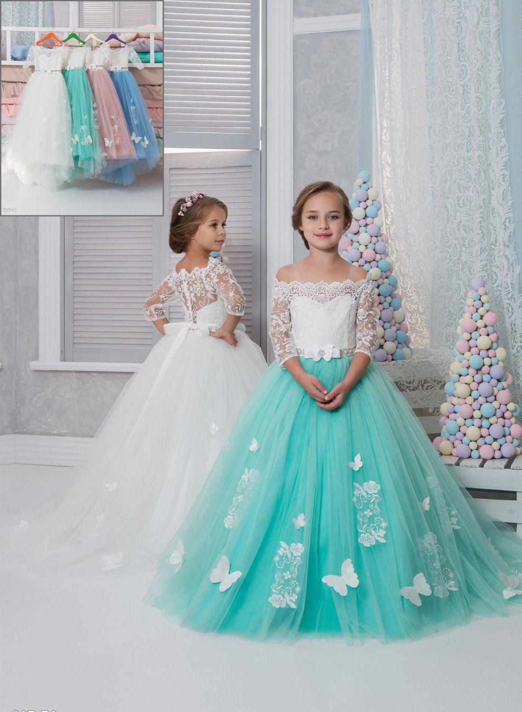 Flower girl dress, Ivory dress, Lace, White dress, Birthday, Holiday ...