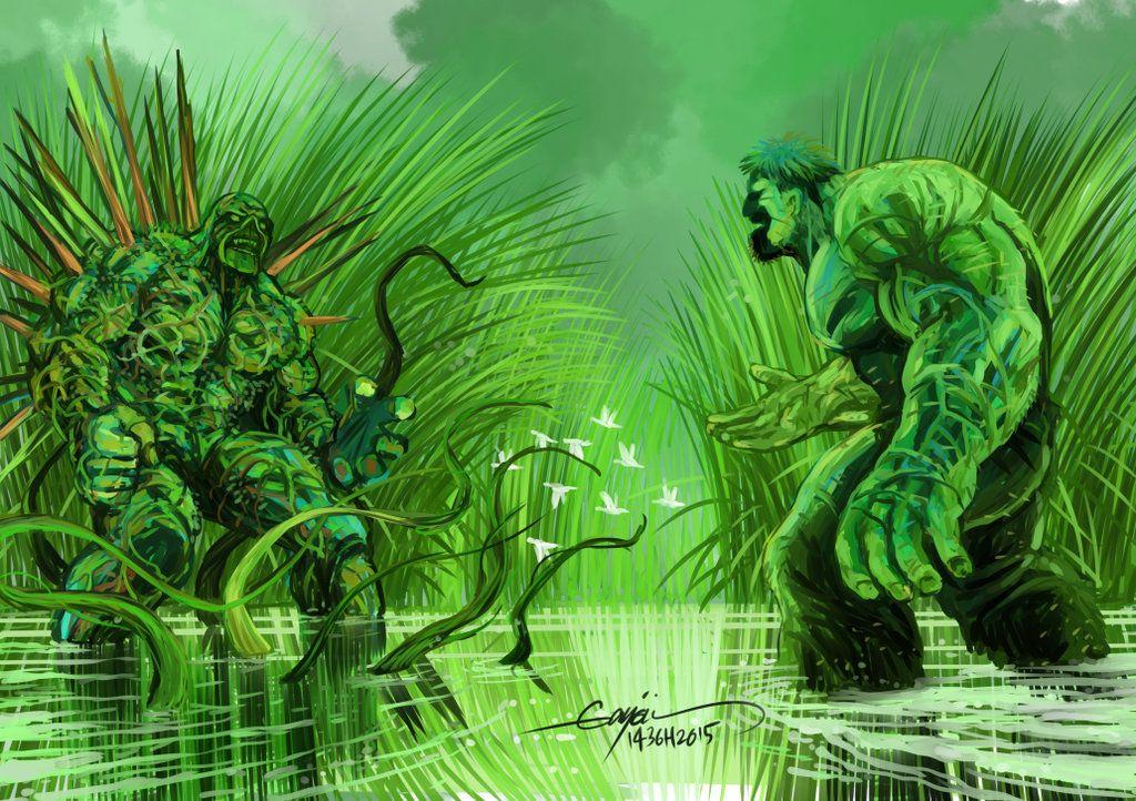 #Hulk #Fan #Art. (SWAMP THING MEET HULK) By:GAYOUR. (THE * 5 * STÅR * ÅWARD * OF: * AW YEAH, IT'S MAJOR ÅWESOMENESS!!!™)[THANK Ü 4 PINNING!!!<·><]<©>ÅÅÅ+(OB4E)