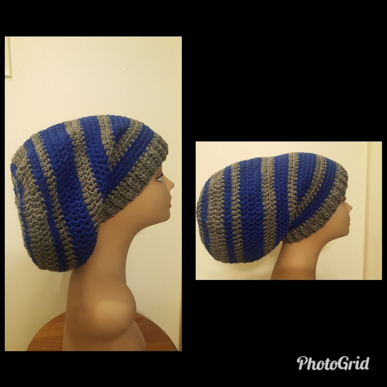 61d5ca8c17f Handcrafted crocheted Rasta Slouch Hat for dreadlocks