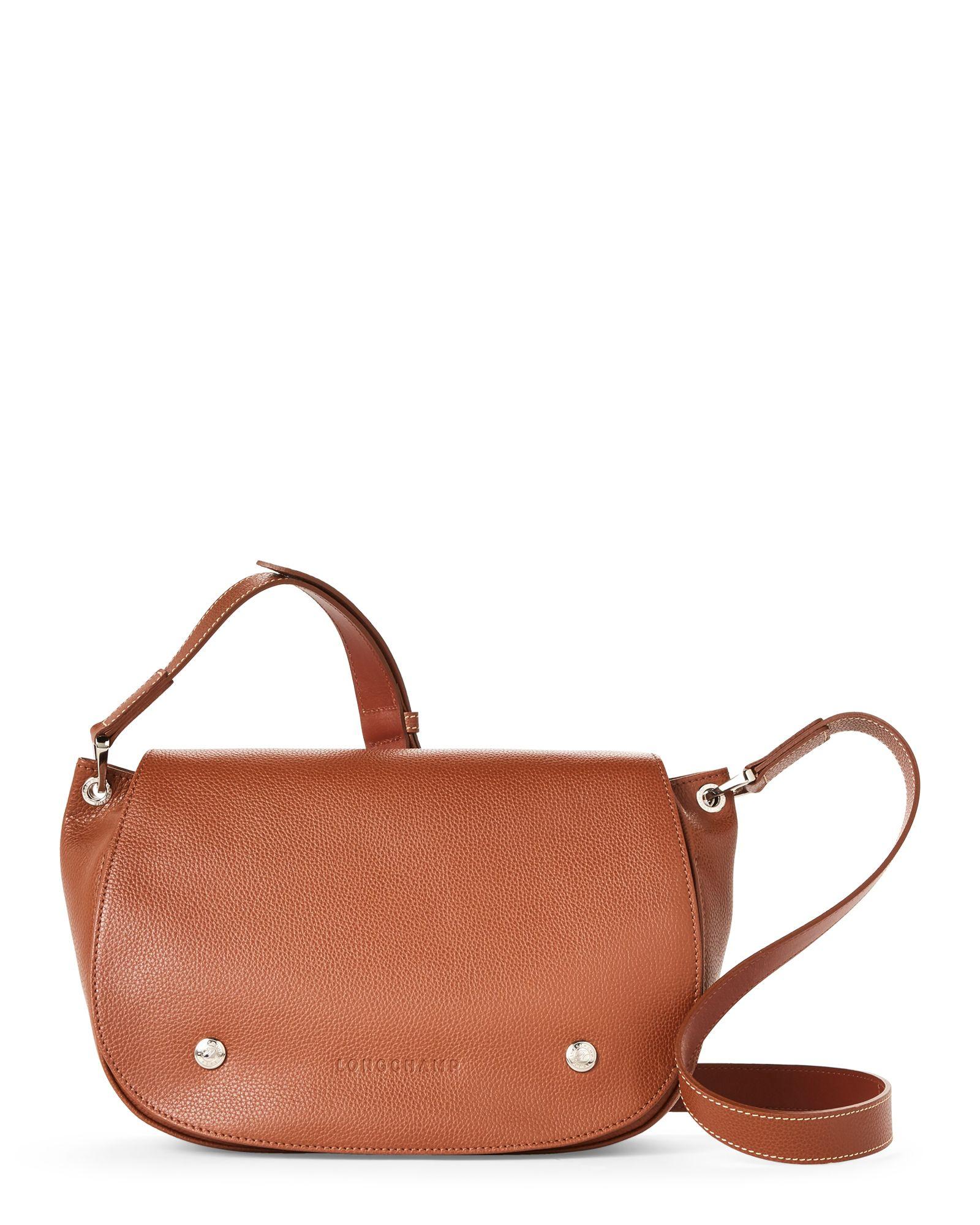 Longchamp Cognac Le Foulonne Leather Saddle Bag | Leather saddle ...