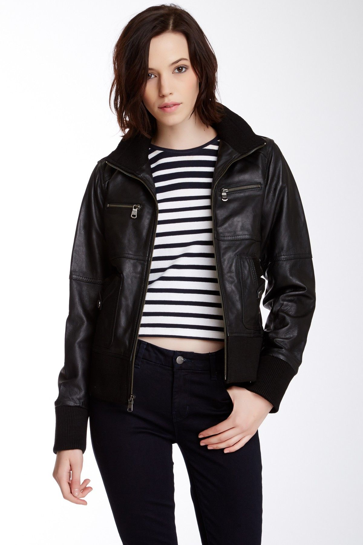 Andrew Marc Scarlett Leather Jacket Leather jacket