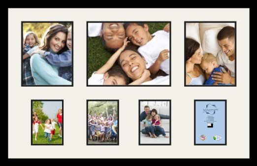 Arttoframes Collage Photo Frame Double Mat With 1 10x13 And 2