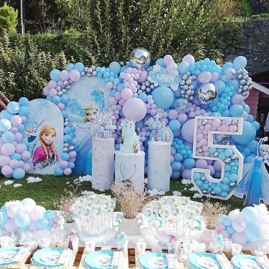 6 pcs Frozen Fever Balloons Birthday Party Supplies