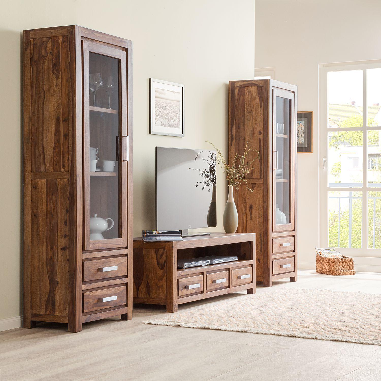 tv möbel weiß matt  holz wohnzimmermöbel  hifi rack