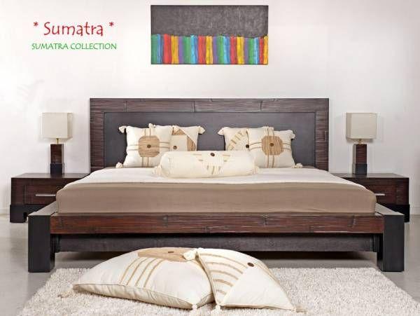 Luxus Bambus Bett In Crushed Bamboo Mit Hochwertigen Vollholzelementen    Richten Sie Ihr Schlafzimmer Jetzt Im Bambusstil Ein Mit