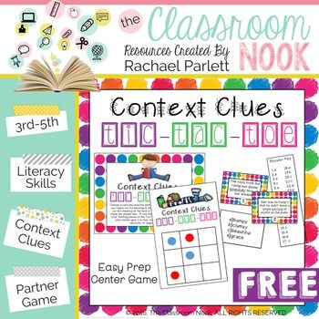 Help your students develop their context clue reading skills with ...